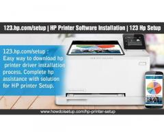 How to set up and download the printer driver from 123 hp setup?